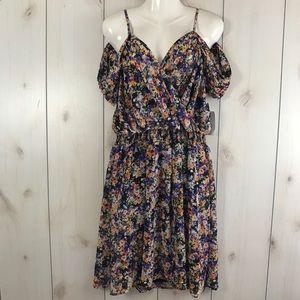 NWT Spense Cold Off Shoulder Floral Dress 14